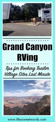 Grand Canyon RV Tips for Booking Trailer Village Last Minute