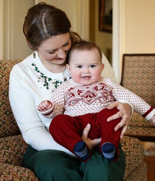 Grand Duchess Stephanie and Prince Charles. Crystal-embellished cashmere-blend sweater