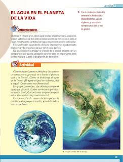 Apoyo Primaria Geografía 5to. Grado Bloque II Lección 2 El agua en el planeta de la vida