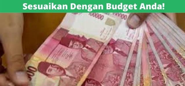menyesuaikan budget