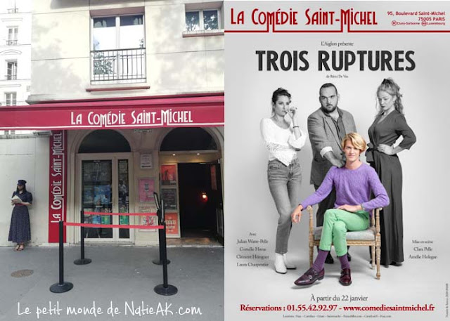 Avis Trois ruptures Théâtre La comédie Saint-Michel