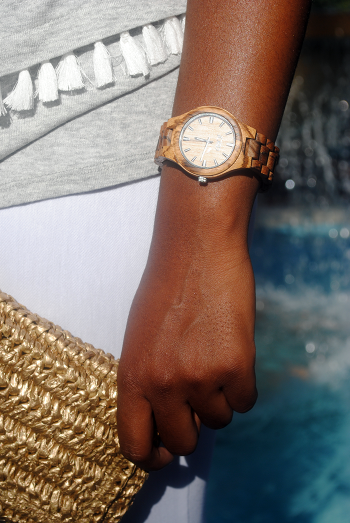 A fashion post sponsored by JORD Wood Watches featuring items from H&M, Missguided, and Ann Taylor. This summer is all about natural textures and patterns for me: snake print, straw handbags, and now wooden watches! I was recently contacted by the good people at JORD Watches and asked if I would like to try out one of their gorgeous timepieces. I said YES without a second thought and I'm so glad I did! It's definitely a unique watch and conversation starter. A lot of people wonder if it's heavy or made from cheap materials and the answer to both questions is no! It's a light watch so it doesn't feel like I'm carrying a log around on my wrist, but it's made from natural Zebrawood and Maple so it will last and last. Keep reading to see how you can win a voucher towards a JORD wood watch of your very own!