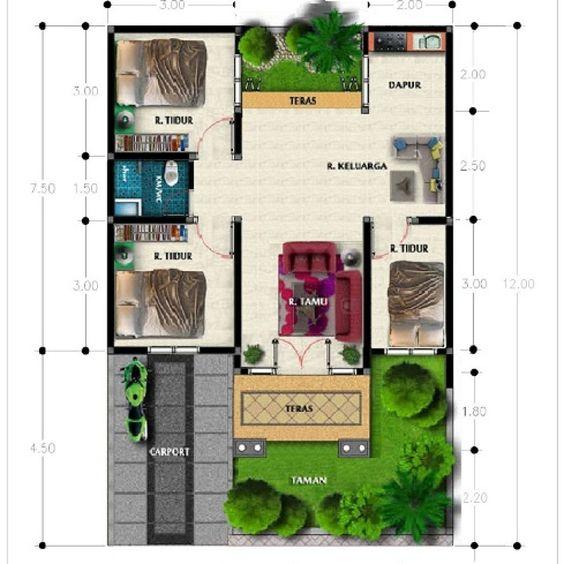 5 Denah Rumah Minimalis Modern Type 36 Terbaru 2019 ...