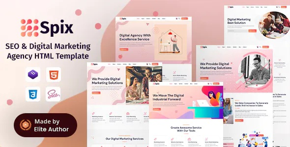 Best SEO & Digital Marketing Agency Responsive Template