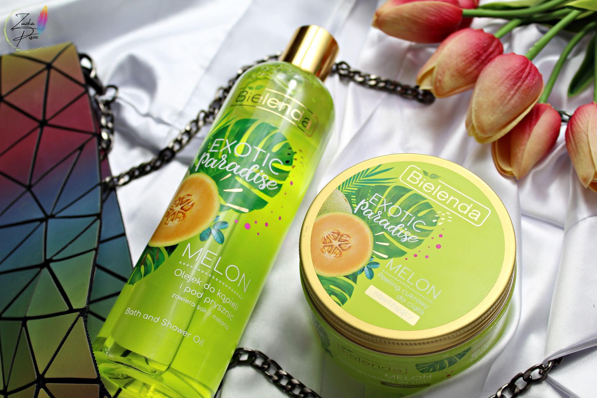 Bielenda Exotic Paradise MELON - cukrowy peeling nawilżający i odświeżający olejek pod prysznic