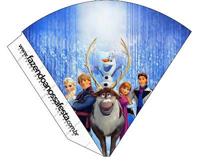 Para conos = cucuruchos de Fiestas de Frozen.