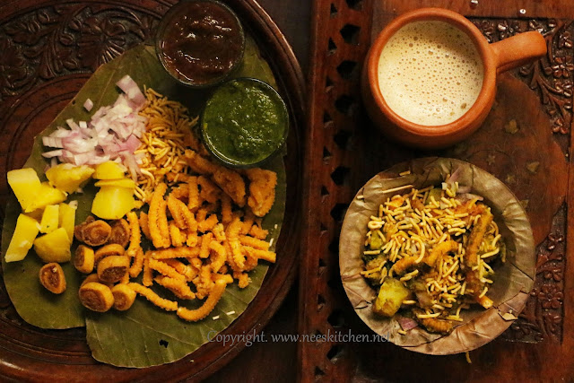 Leftover Murukku Chaat