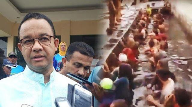 Anies Copot Lurah Jelambar Usai Ngetes Pegawai Honorer Nyebur Got