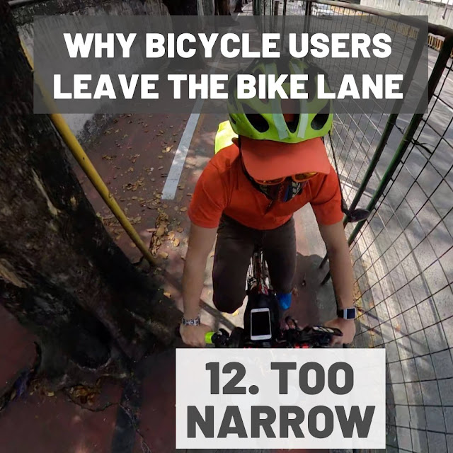 Some bicycle lanes are too narrow