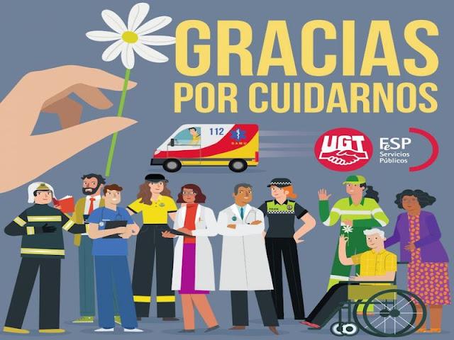 Aplauso y agradecimiento a los empleados públicos en coronavirus, FeSP-UGT Ceuta, UGT Ceuta, Blog de Enseñanza-UGT Ceuta