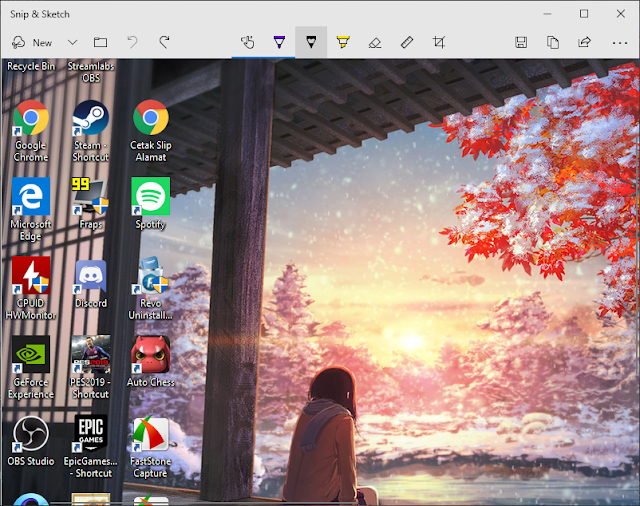 Screenshot Layar di Laptop Windows 10
