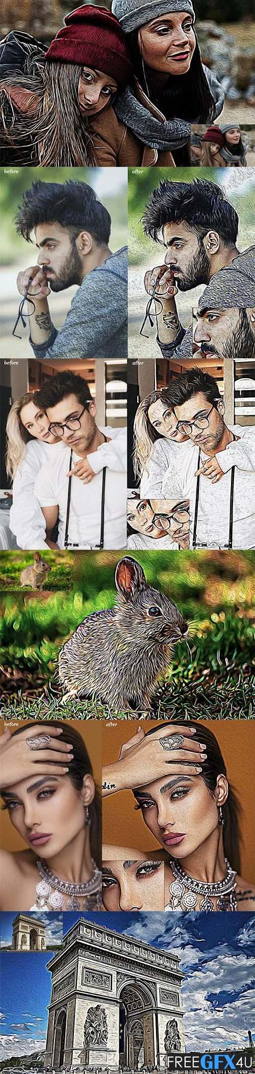 Oil Art Photoshop Action