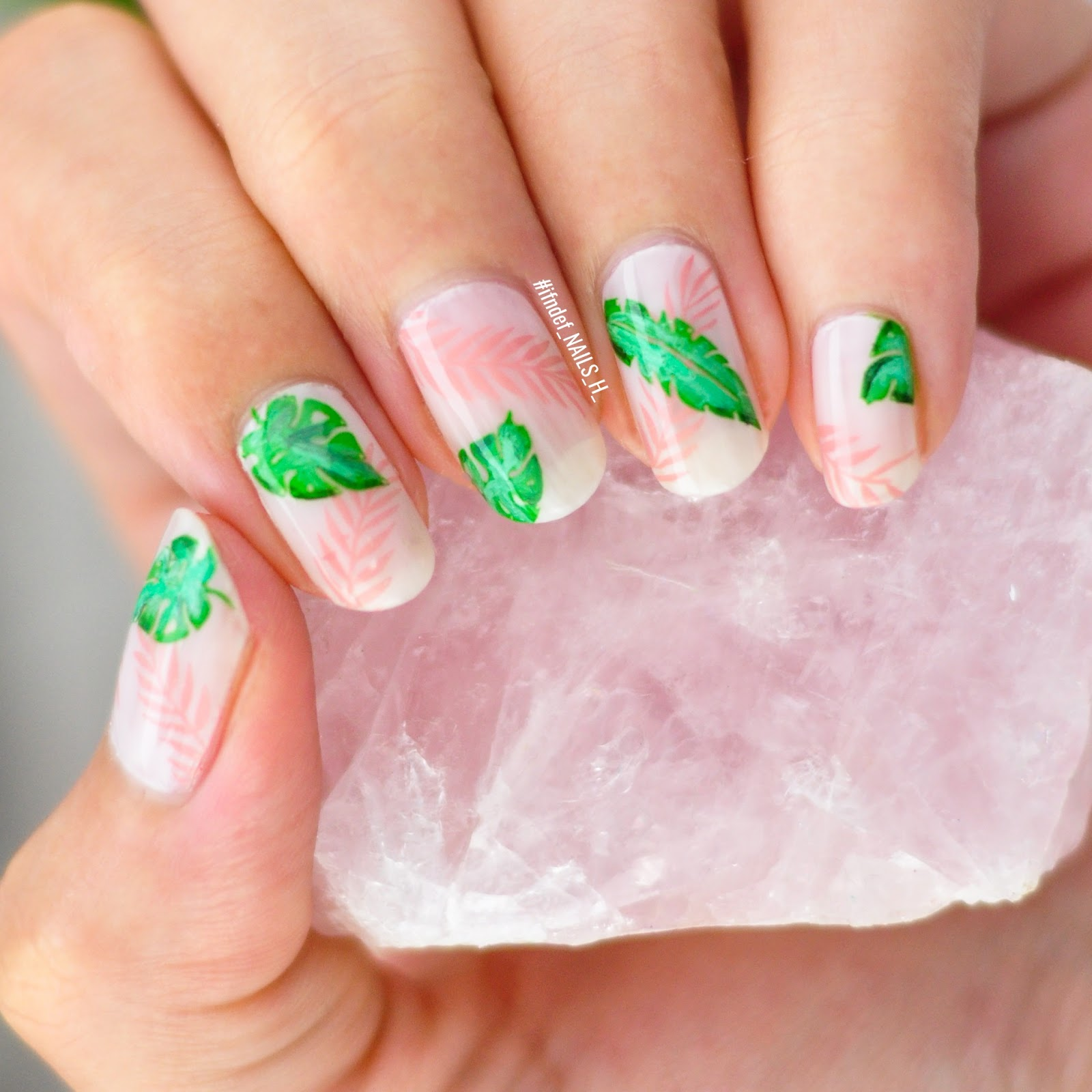 Nude Palm Leaves Pink Nude Tropical Design Ifndef Nails H Tropical leaves on pink background. nude palm leaves pink nude tropical