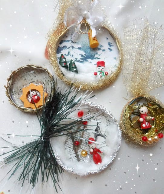 Bottle / Jar Cap Christmas Ornaments