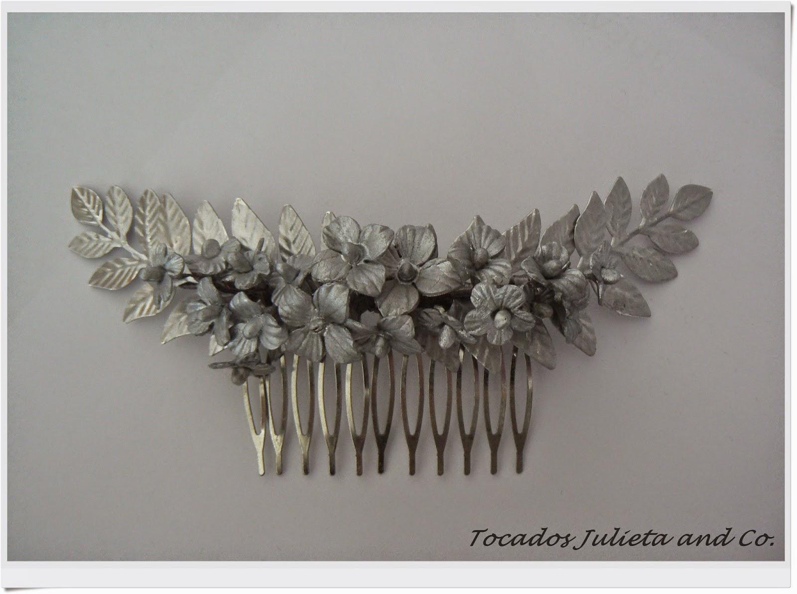 tocados novia de porcelana