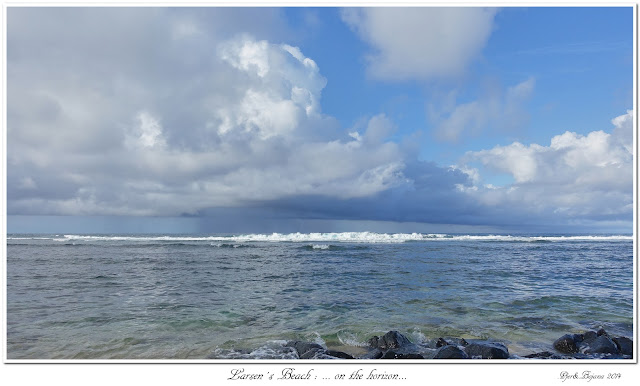 Larsen's Beach: ... on the horizon...