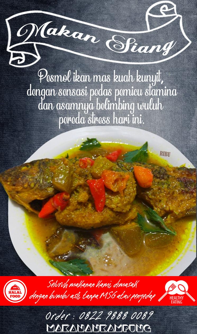 Bumbu Pesmol Ikan Mas : bumbu, pesmol, Pesmol, Masakan, Makanan, Kampung