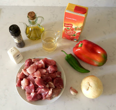 Ingredientes magra con tomate