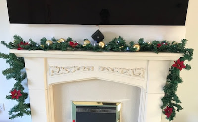 How to make a simple fireplace garland tutorial
