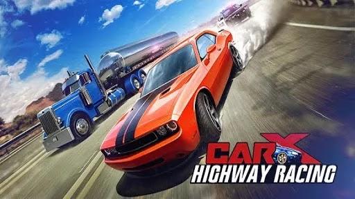 السباق الأول على طريق سريع مزدحم!  مزيج من الفيزياء النابضة بالحياة والتي كانت النقطة المركزية في CarX Drift Racing