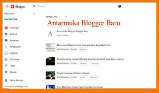 Antarmuka Blogger Baru