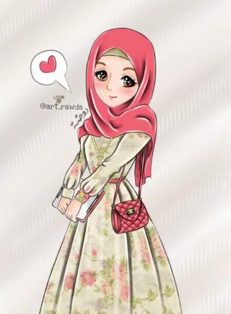 Kartun Muslimah Comel