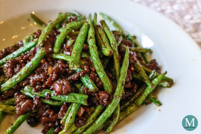 Fried Minced Beef with French Beans at Summer Palace at Edsa Shangri-La, Manila