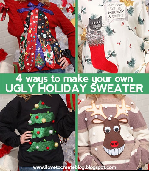 6033a9fa7 The UGLY HOLIDAY SWEATER party season is upon us, so we decided to share  with you 4 super cheesy ways to dress up your holiday sweater in kitschy  Christmas ...
