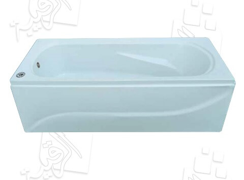بانيو الجوهرة أكريلك 120×70سم/ الماسة أبيض بدون جانب