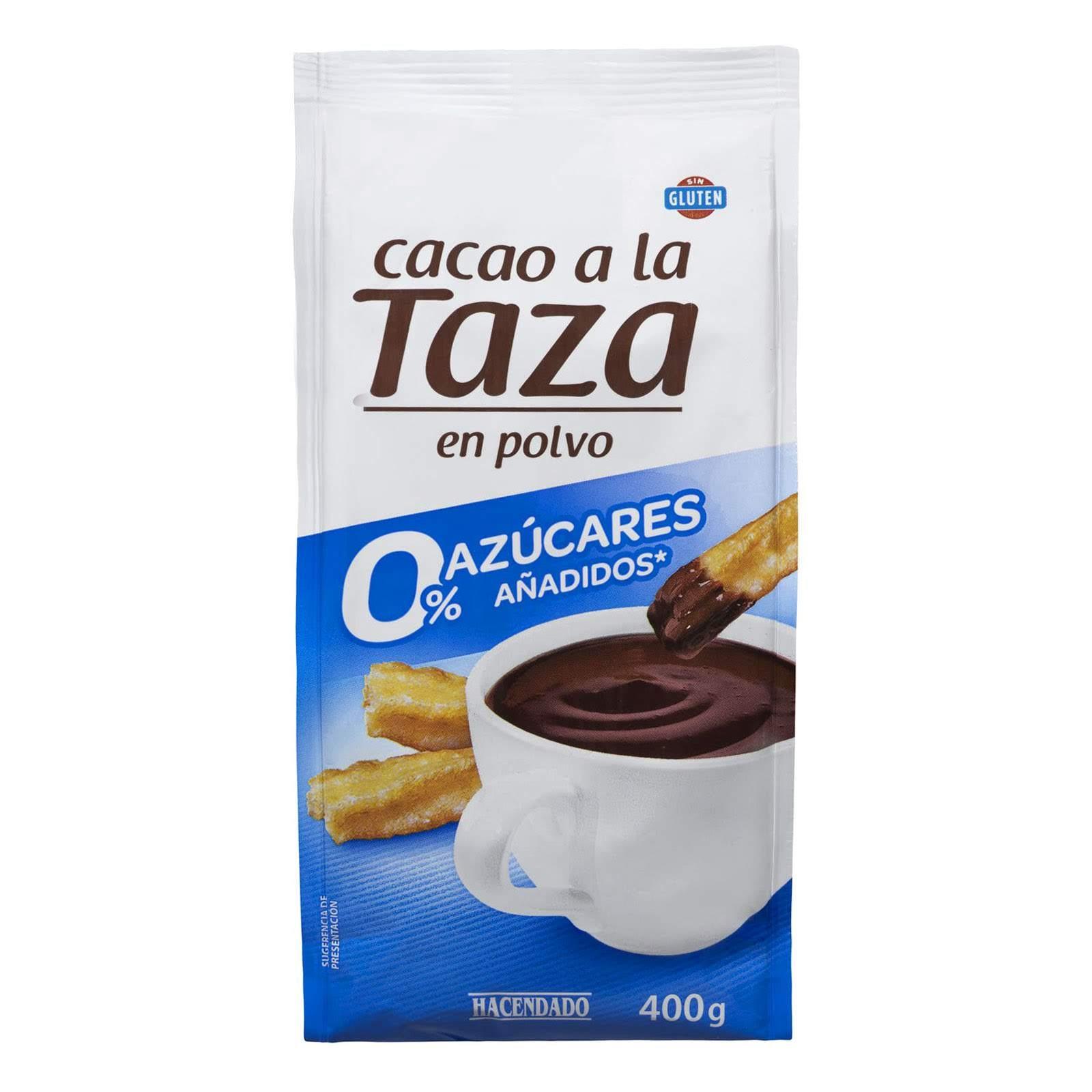 Cacao a la taza en polvo 0% azúcares añadidos Hacendado