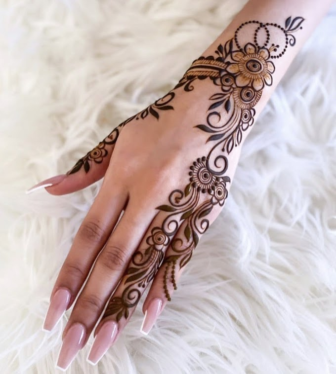 Front Hand Mehndi Design - New Mehndi Designs