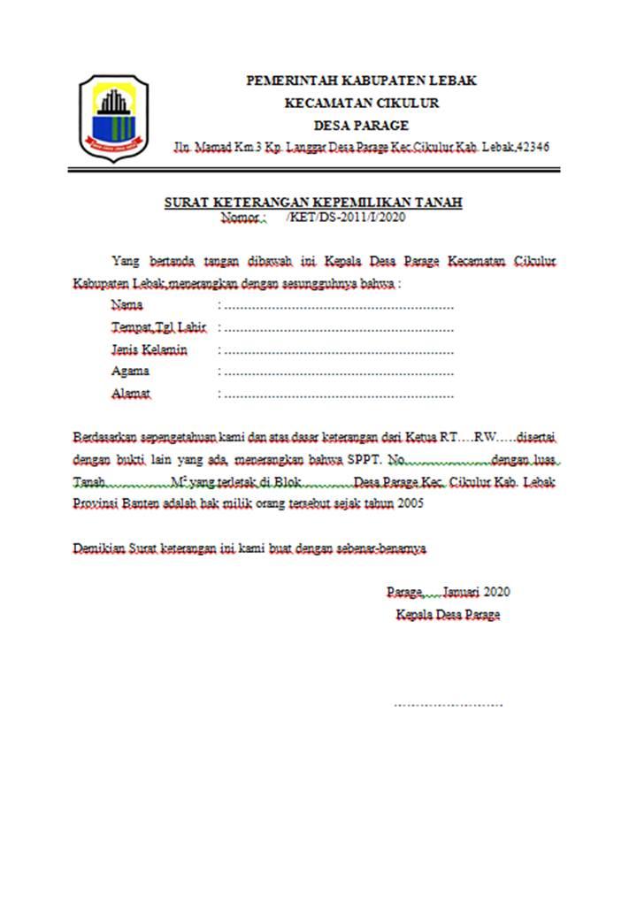 15+ Contoh surat pernyataan hak milik tanah terbaru yang baik