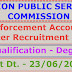 UPSC - Recruitment of 257 Enforcement Officers/Accounts Officers. Last Dt. 23/06/2016