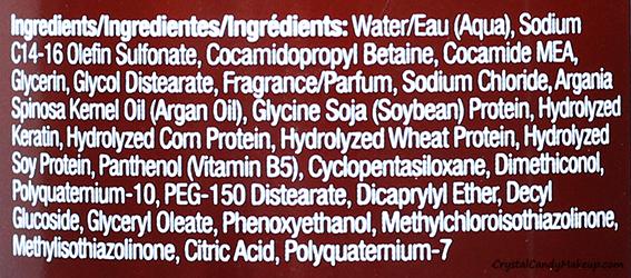 Hask Argan Oil Hair Care Range Repairing Shampoo Ingredients