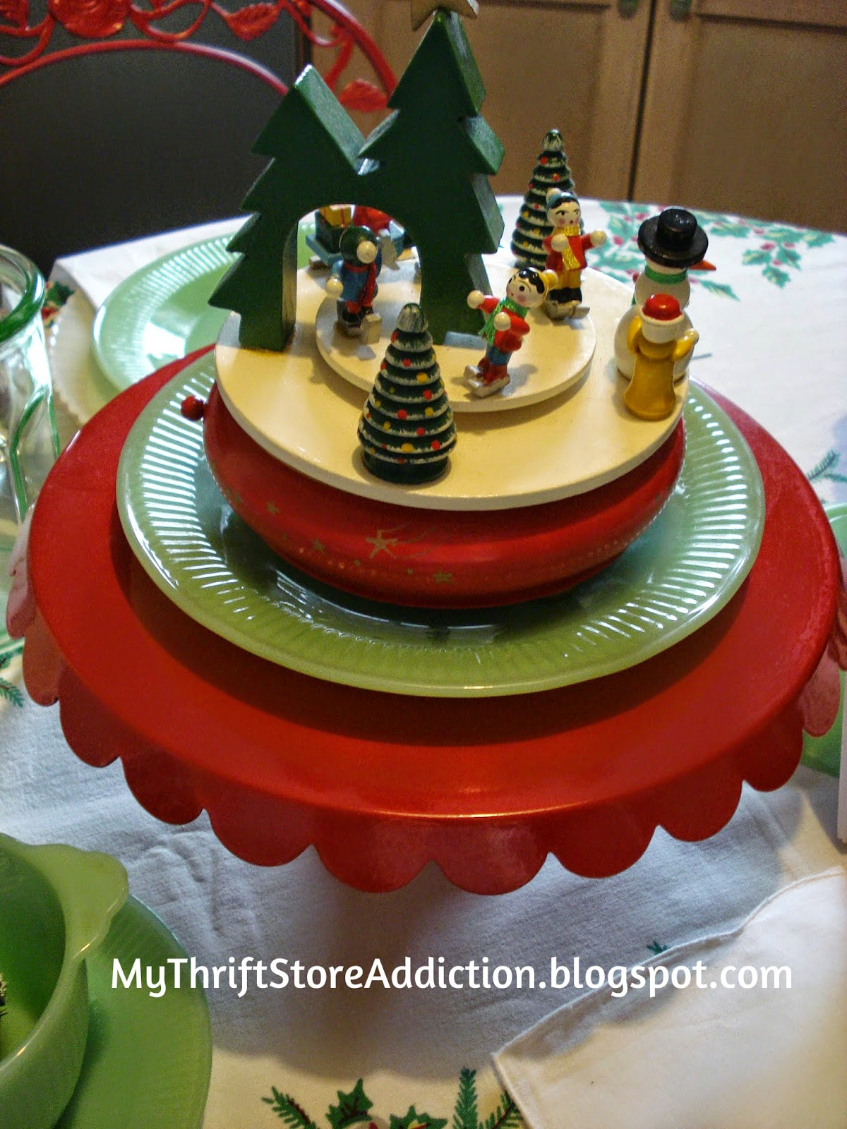 Vintage Christmas music box
