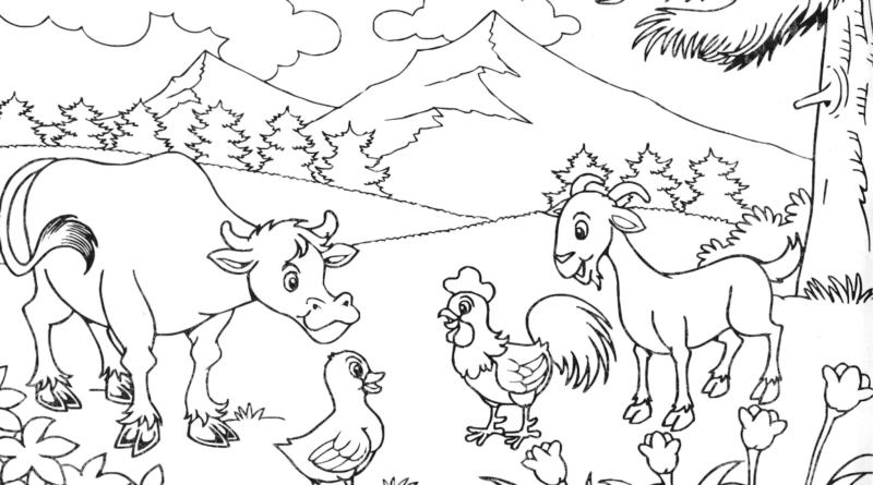 37 Sketsa Gambar Pemandangan Alam Untuk Anak Sd