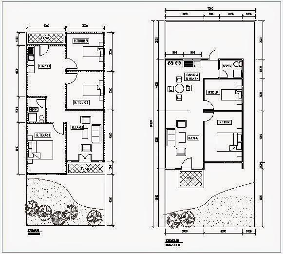 34 Denah Terbaik Rumah Minimalis 2 Lantai - Rumahku Unik
