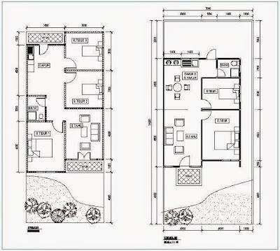 denah rumah minimalis 2 lantai