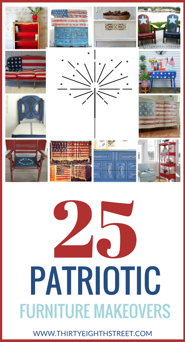 repurposed furniture, fourth of july, 4th of july, diy decorating, furniture, diy home decor, holiday decorating, painting furniture tips
