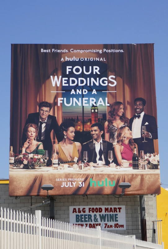 Four Weddings and a Funeral Hulu series billboard