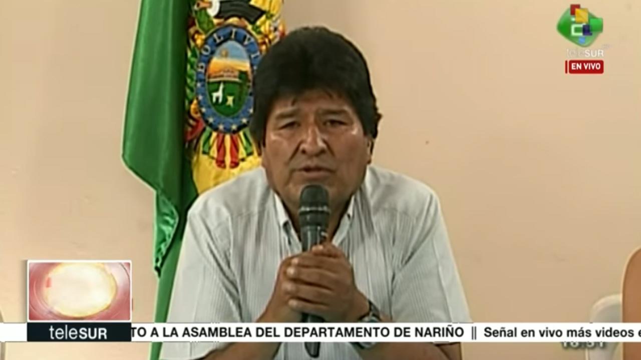 Por la paz en Bolivia renuncia Evo Morales a la presidencia