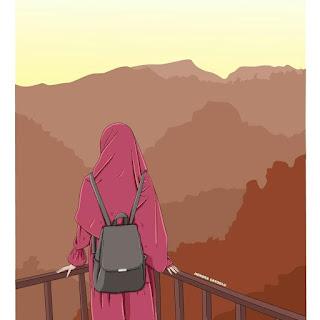 cartoon muslimah photography