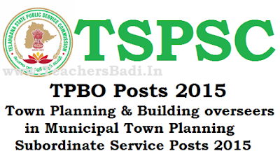 TSPSC,TPBO) Posts, Recruitment
