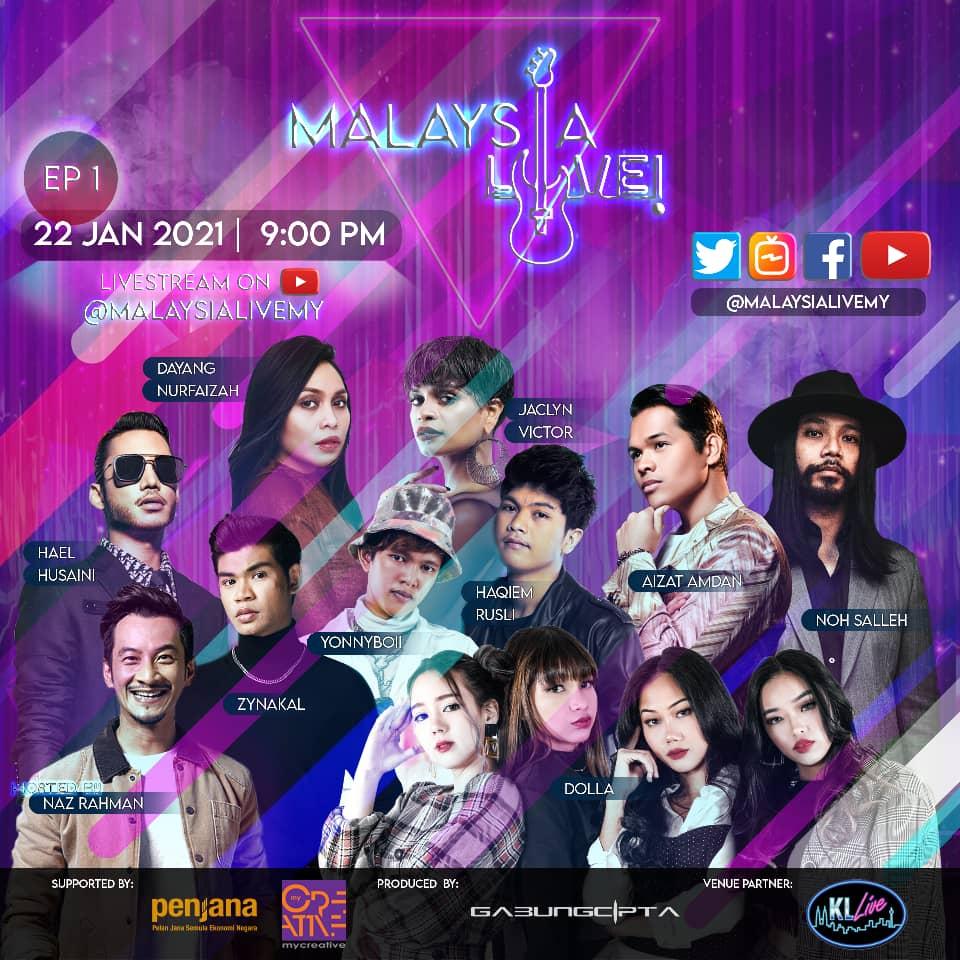 Tonton Siri Konsert Atas Talian melalui MALAYSIA LIVE!