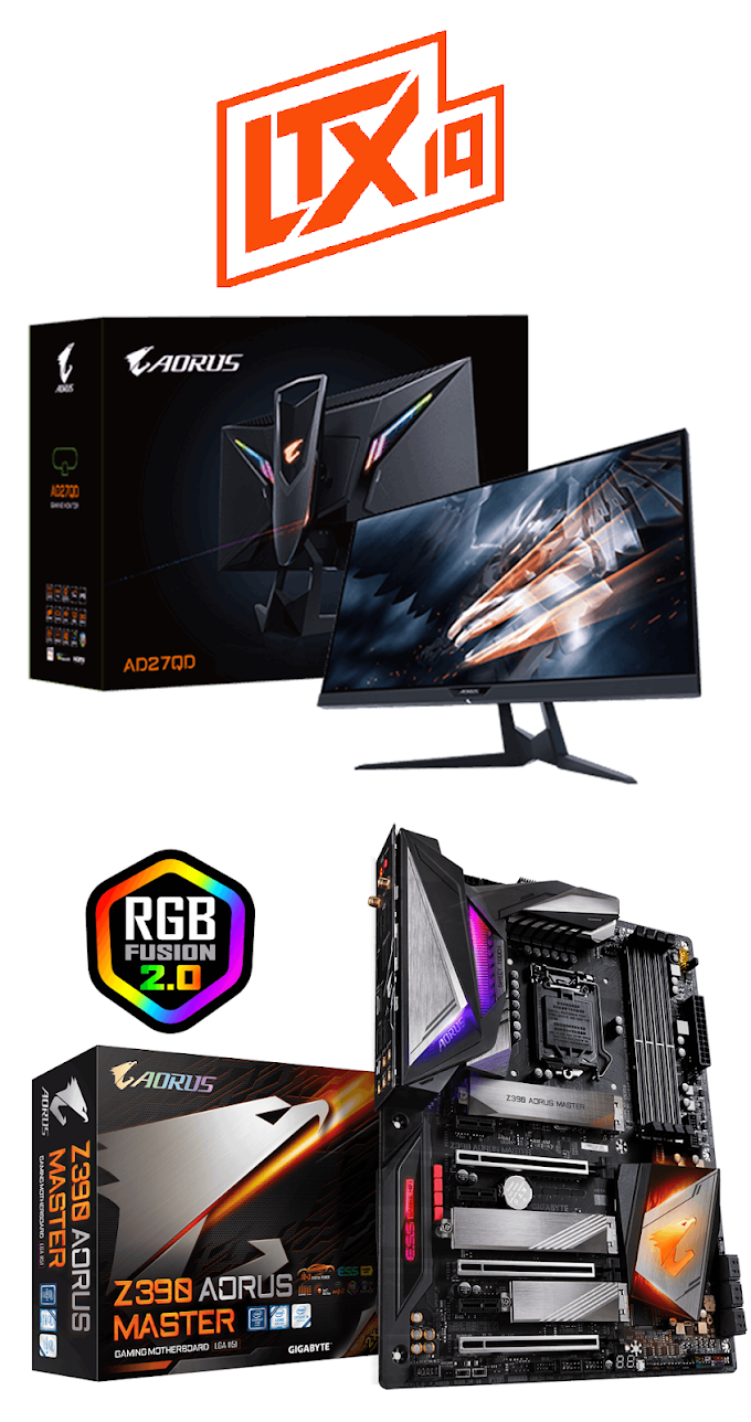 SORTEIO: Monitor Gamer AORUS & Placa Mãe Gigabyte Z390 Aorus