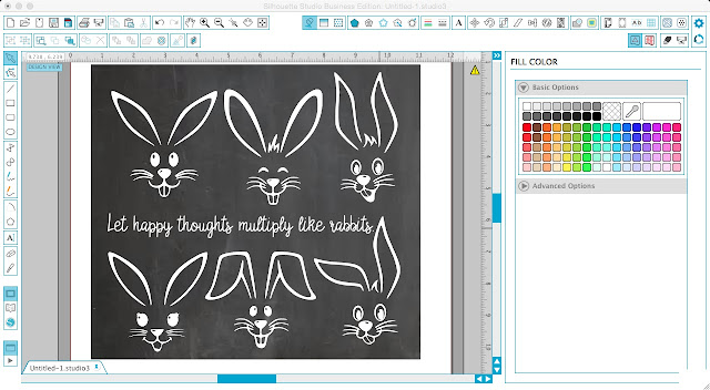 Silhouette Studio, Silhouette Cameo, cut files, free cut files, easter bunny