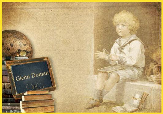 Teaching children to read according to the Glenn Doman curriculum.