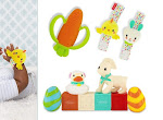 FREE Textured Carrot Teether, Springtime Wrist Rattles, and Easter Grab & Go Bag - Infantino