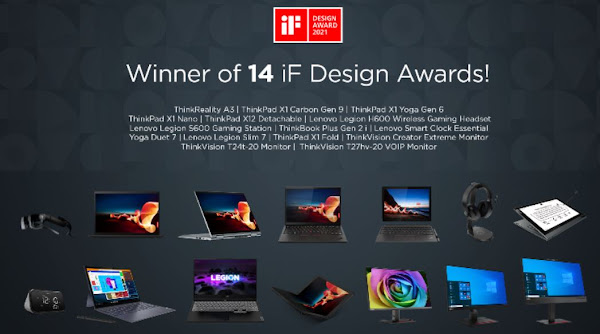Lenovo Recebe 14 IF Design Awards