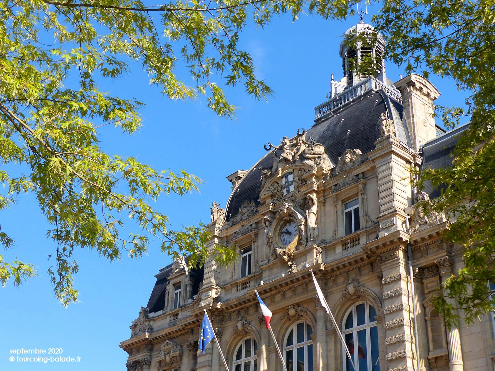 Façade de la Mairie de Tourcoing, Septembre 2020